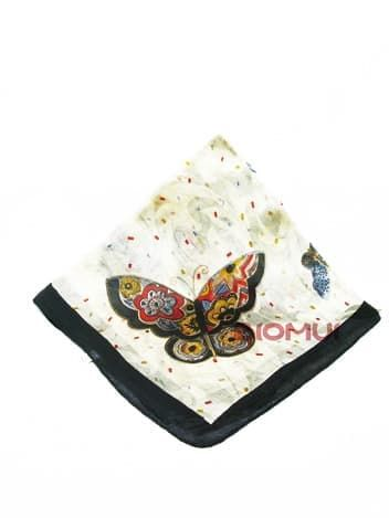 Шелковый платок Бабочки (черно-белый)Платки<br><br>
