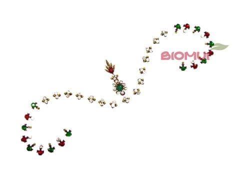 Бинди с надбровными украшениями (тату из страз) IndiaБинди<br><br>