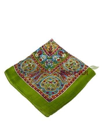 Шелковый платок (салатовый)Платки<br><br>