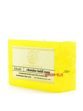 Натуральное глицериновое мыло с сандалом и куркумой KhadiМыло<br><br>