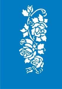 Самоклеющийся трафарет для тату Woodbine roseТрафарет для менди<br><br>