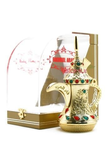 Масляные духи Fakhrul Arab GoldЭксклюзивные духи<br>Насыщенный, глубокий, восточный пьянящий аромат. Подобно джину из лампы способен воплотить в явь даже смелые желания!<br>