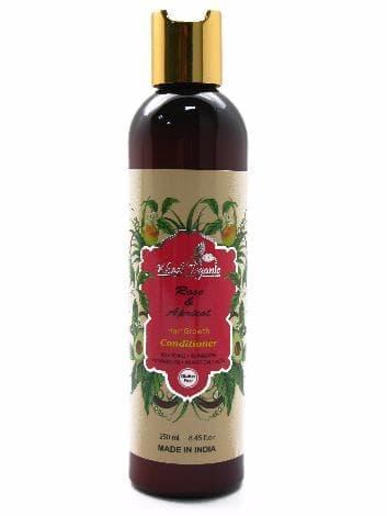 Роскошный стимулирующий травяной кондиционер с розой и персиком «Khadi Organic»