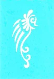 """Самоклеющийся трафарет для тату """" Hippocampus"""" от BioMui"""