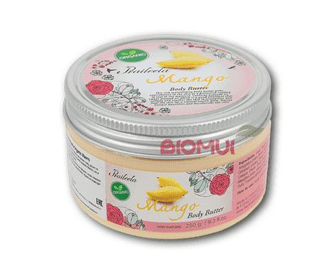 Крем-масло для тела с манго PraileelaКрем<br>Данный продукт станет спасением для утомленной, сухой и поврежденной кожи. Совмещая в себе деликатную структуру крема и сильные питательные свойства органических масел, он преображает кожу изнутри, оставляя после себя на теле жизнерадостный и сочный арома...<br>