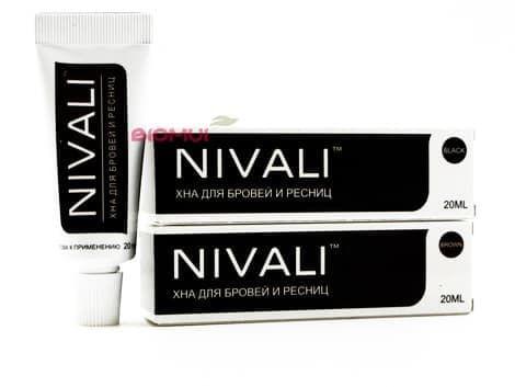 Хна для бровей и ресниц  NivaliХна для волос<br>Является первым органическим окрашивающий средством в мире, не содержащим активаторов цвета и окислителей.<br>