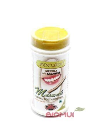 Растительный зубной порошок с мисваком и черным тмином KhojatiГигиена полости рта<br>Растительный зубной порошок с мисваком и черным тмином Khojati обеспечивает комплексный уход за полостью рта. Удаляет зубной камень и наращивает эмаль.<br>