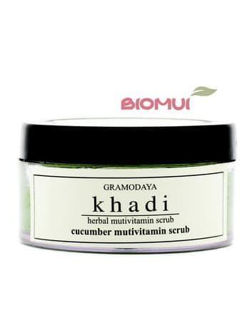 Увлажняющий мультивитаминный гель-скраб для лица с огурцом Khadi