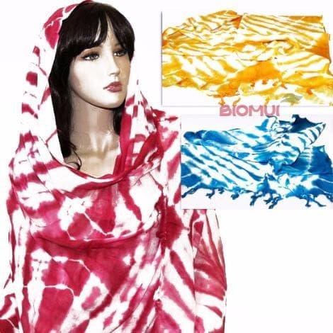 Хлопковый легкий тонкий шарф (марлевка) от BioMui