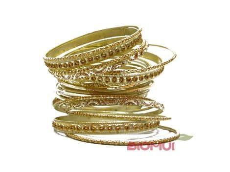 Индийский браслет-кольца (золотой)