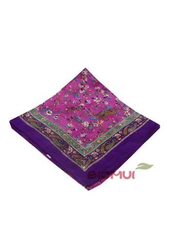 Шелковый платок с цветочным принтом (ягодный)Платки<br><br>