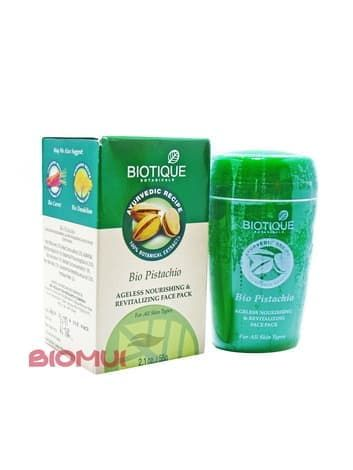 Антивозрастная питательная фисташковая маска для лица Biotique