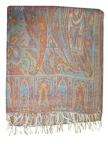 Шелковый платок с отливом плотный  двухсторонний (нежно розовый с голубым)Платки<br><br>