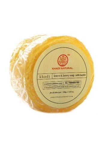 Натуральное мыло-мочалка с лимоном и мёдом
