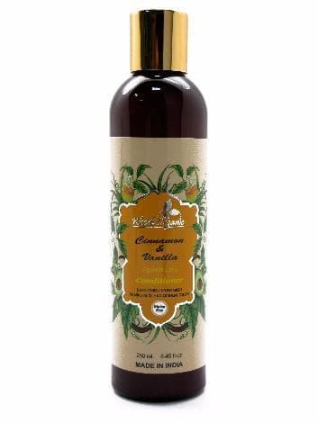 Травяной кондиционер с корицей и ванилью против выпадения волос «Khadi Organic»