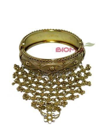 Панжа-браслет золотой с кольцом