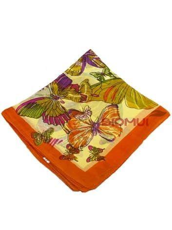 Шелковый шарф мини-бабочки (оранжевый)Платки<br><br>