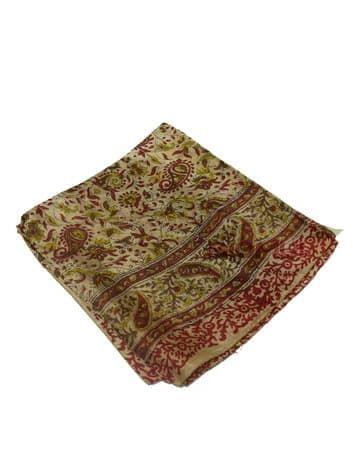 Шелковый платок (серый с красным принтом)Платки<br><br>
