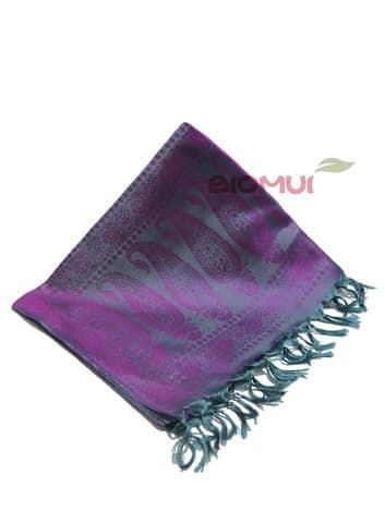 Шелковый платок Хамелеон (темно-серый с малиновым отливом)Платки<br><br>