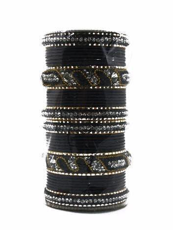 """Свадебный набор браслетов """"Vedinga"""" (Черный) от BioMui"""