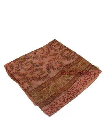 Шелковый платок с принтом (бордовый)Платки<br><br>