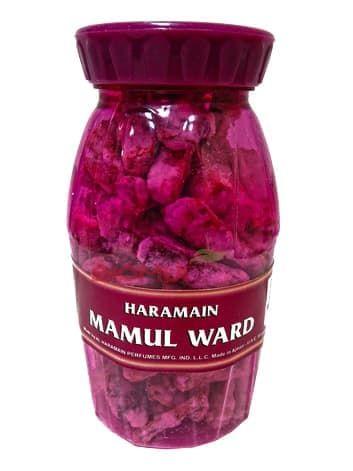 Натуральный древесно-смоляной бахур с розой «Haramain Mamul»