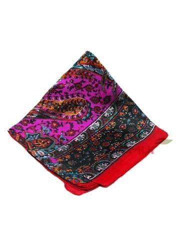 Шелковый платок (малиновый с красным)Платки<br><br>