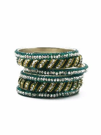 Индийский браслет со стразами (Зеленый)