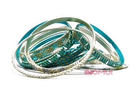 Индийский браслет-кольца (цвет морской волны)