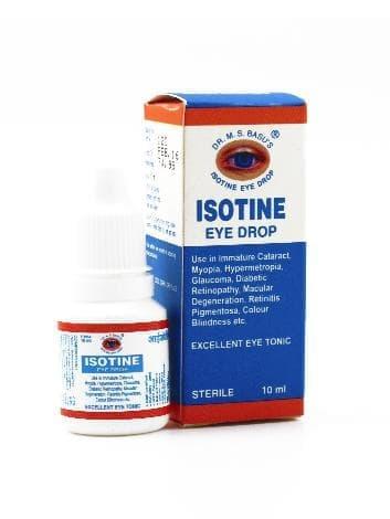 Лечебные капли для глаз Isotine Jagat PharmaКапли для глаз и носа<br>Данные капли являются высокоэффективным натуральным средством для лечения незрелой катаракты, близорукости, дальнозоркости, цветовой слепоты, диабетической ретинопатии, глаукомы, дегенерации жёлтого пятна и пигментного ретинита.<br>