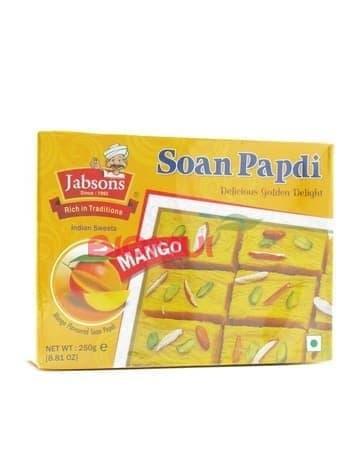 Индийская сладость «Соан папди» с манго «Jabsons» от бренда  - купить в Москве по низкой цене в интернет-магазине Biomui